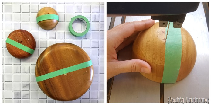 wooden bowl wall planter