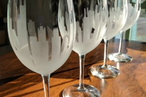 Etched Skyline Stemware Tutorial