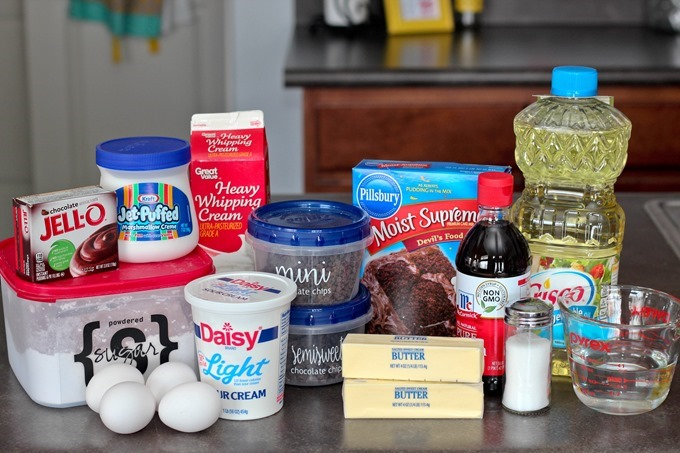 Ingredients for Chocolate Whoopie Pie Cake {Reality Daydream}