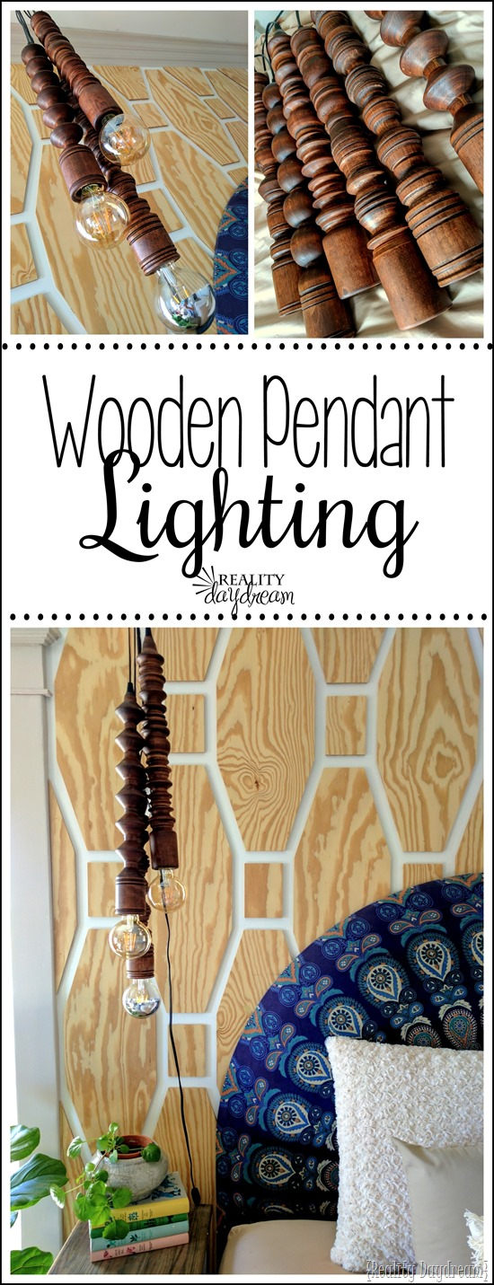 Make these clusters of Wooden Pendant Lights using a lathe! {Reality Daydream}