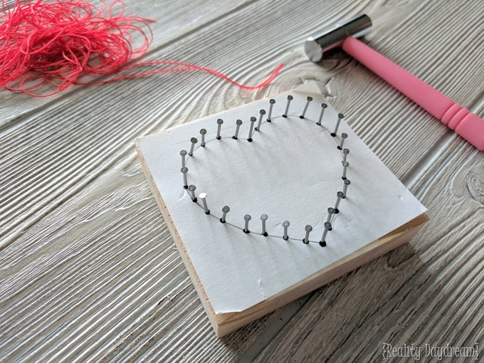 Simple Beginner String Art for a fun kids craft around Valentines! {Reality Daydream}