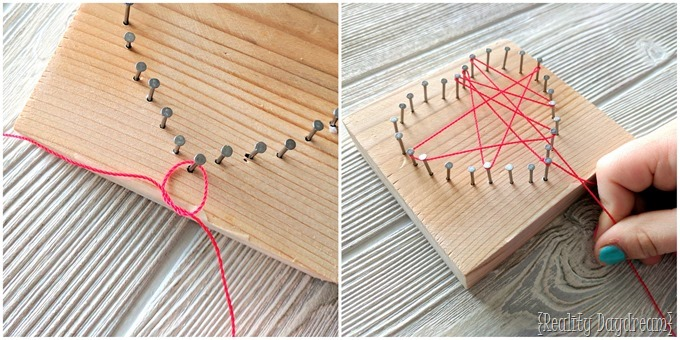 String Art Kids Craft for Valentine's Day {Reality Daydream}