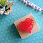 Valentine's String Art Craft for kids! {Reality Daydream}
