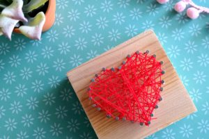 Heart-Shaped Beginner String Art Kids Craft