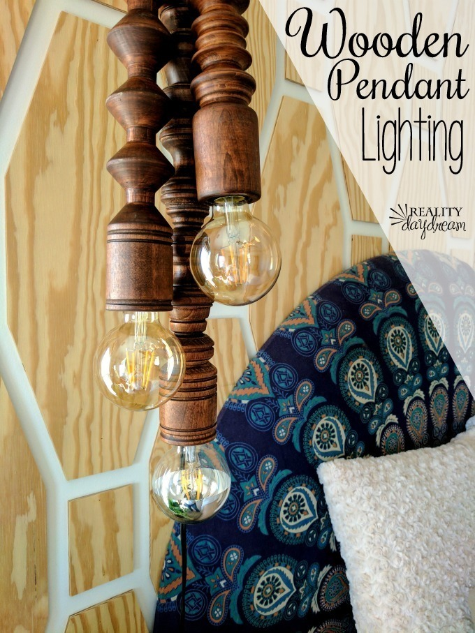 Wooden Pendant Lighting {Reality Daydream}