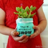 Teachers Day: Succulent Gift Idea 'Thank you for Helping me GROW'