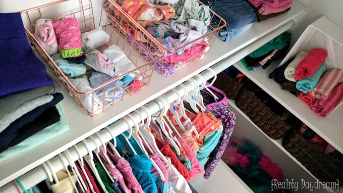 Kids closet organization ideas and shelving tutorial {Reality Daydream}