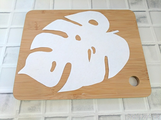 Make DIY Leaf Trivets from a Cutting Board using a scroll saw! {Reality Daydream}
