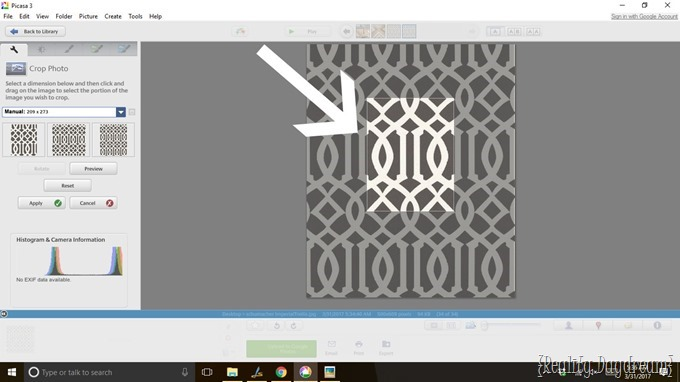 Make any pattern into a stencil! {Reality Daydream}