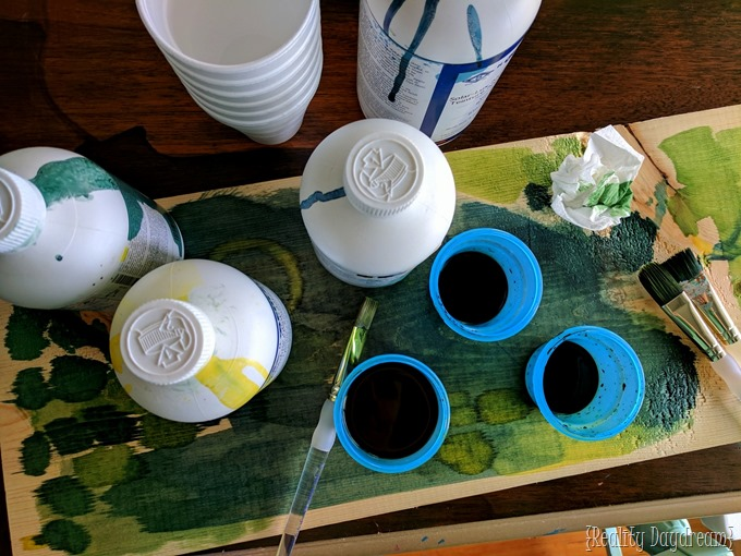 Solar Lux Dye Stain for Botanical Leaf Trivets {Reality Daydream}