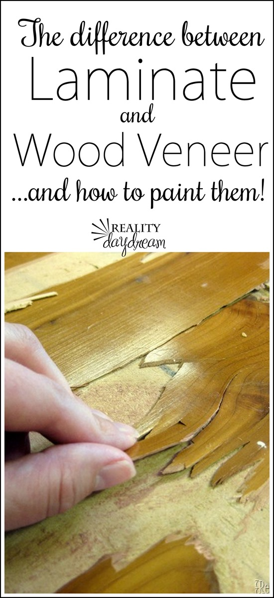 The difference between laminate and wood veneer, and how to paint them!  {Reality