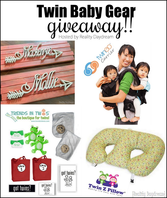 Twin Baby Gear GIVEAWAY - Hosted by Reality Daydream