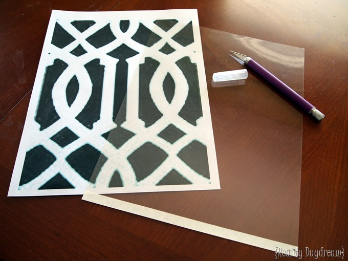 You can MAKE YOUR OWN STENCIL at home! Tutorial on Reality Daydream