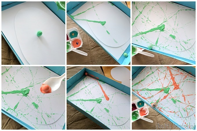 April Easter Spring craft for kids - marble painting! {Reality Daydream}