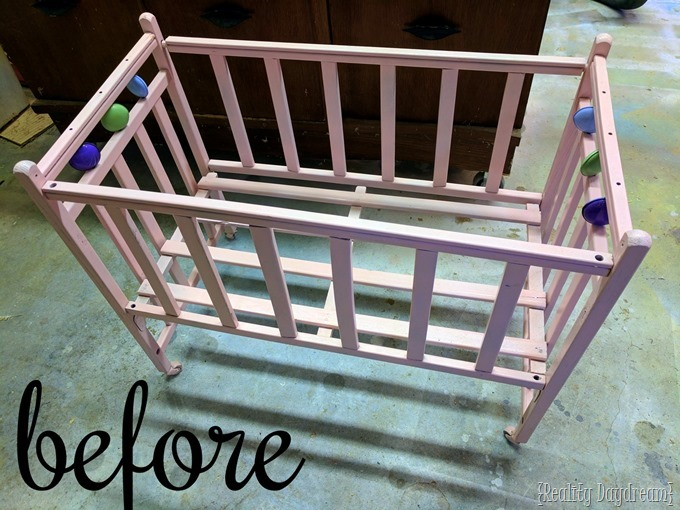 Baby Doll Crib needs a little TLC and tightening of the joints {Reality Daydream}