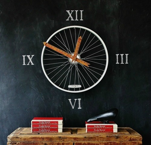 Bicycle Wheel Clock by Thistlewood Farms