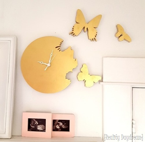 Butterfly Cutout Clock {Reality Daydream}
