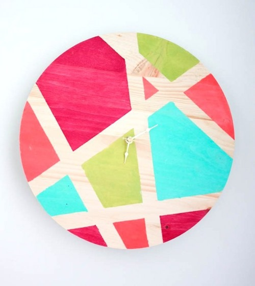 Color blocked clock by Amber Oliver