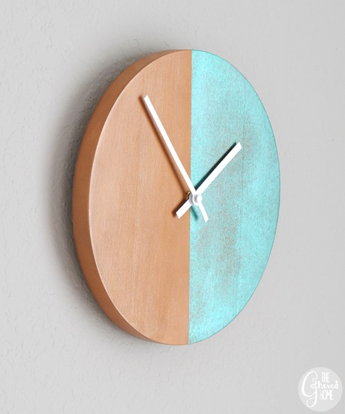 Copper Patina Two-Tone Clock by The Gathered Home