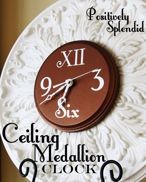 DIY Clock made from a Ceiling Medallion - Positively Splendid