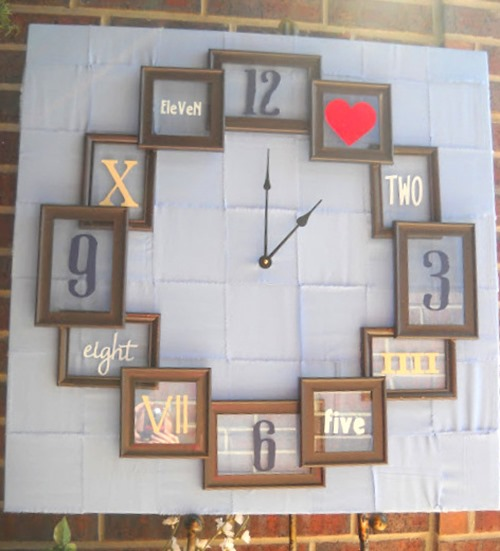 DIY Clock made from recycled picture Frames! - Craft Goodies
