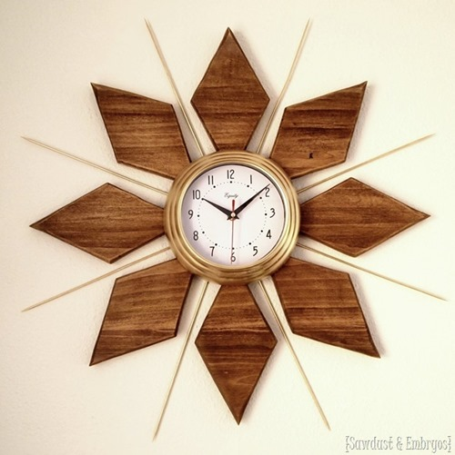 DIY Clock with a mid-century modern feel {Reality Daydream}