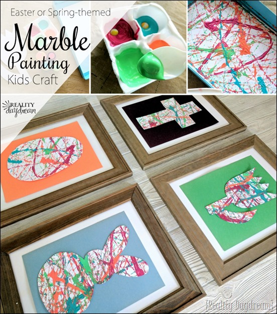 Easter or Spring-themed kids craft idea ...MARBLE PAINTING! {Reality Daydream}