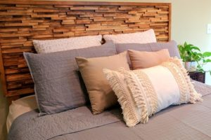 Wooden Modern Headboard with Unique Texture Effect