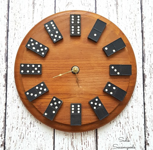 Manly DIY Clock with DOMINOS! - Sadie Seasongoods
