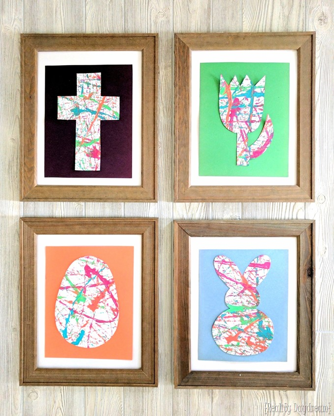 Marble Painting Easter (or spring) art for this fun kids crafts! {Reality Daydream}