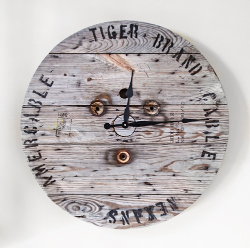 Rugged Spool Clock by Maison Pax