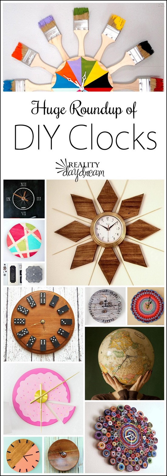 TONS of amazing and inspiring DIY Clocks all in one place! The ultimate DIY Clock roundup! {Reality Daydream}