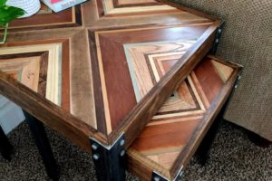 Scrap Wood Decorative Inlay Nesting End Table