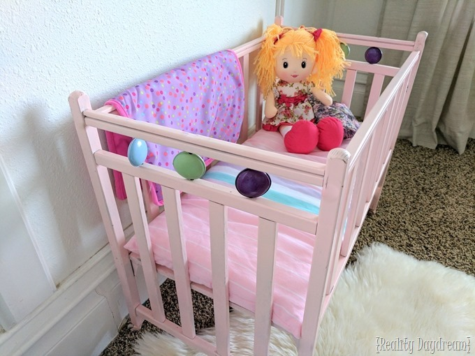 This baby doll crib has lots of nostalgia, and we saved it by fixing the joints with SwelLock! {Reality Daydream}