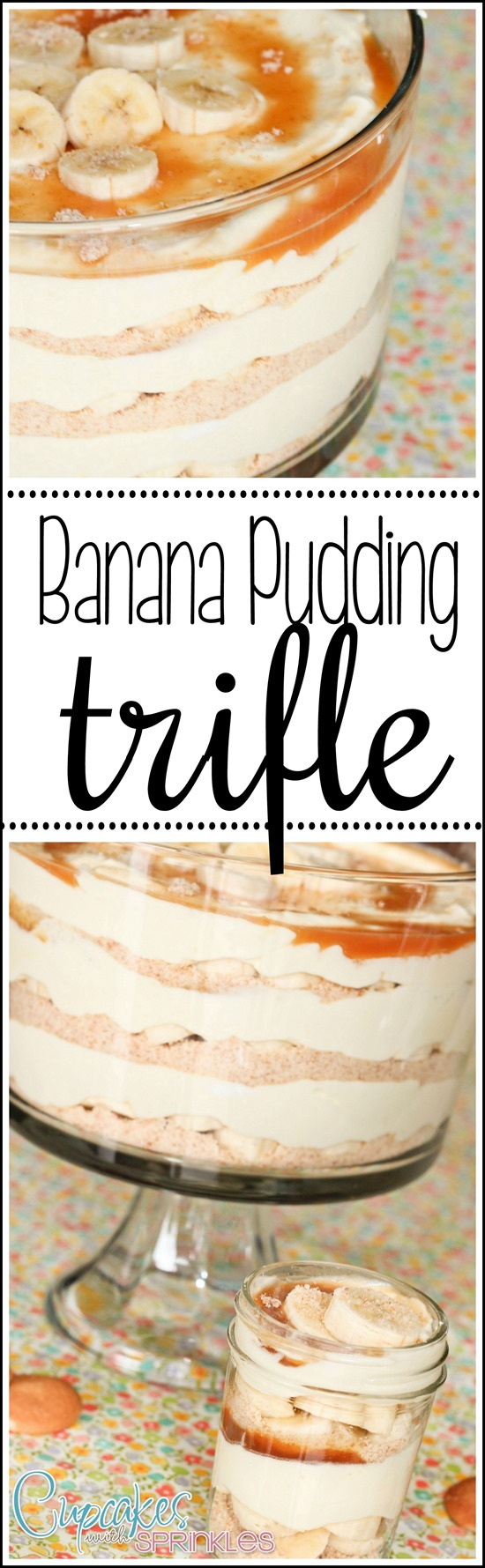 Banana Puding Trifle Recipe - perfect for potlucks! {Reality Daydream}
