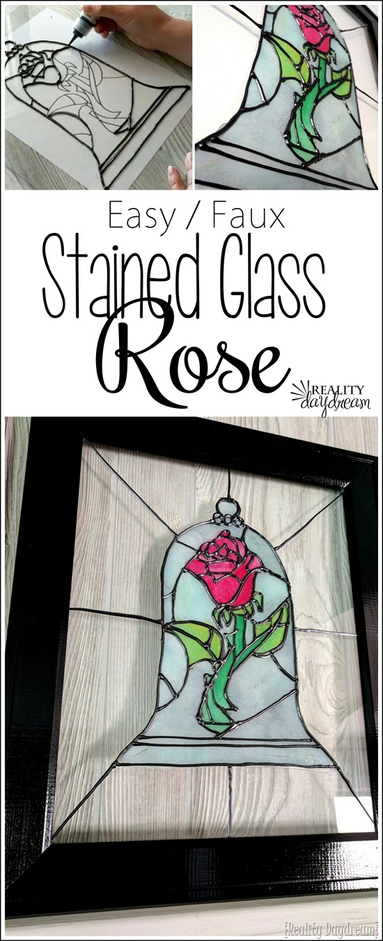 EASY Stained Glass Rose from Beauty and the Beast TUTORIAL! {Reality Daydream}