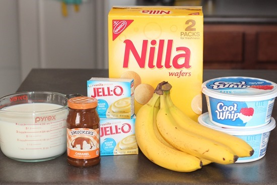 Ingredients for Banana Pudding Trifle