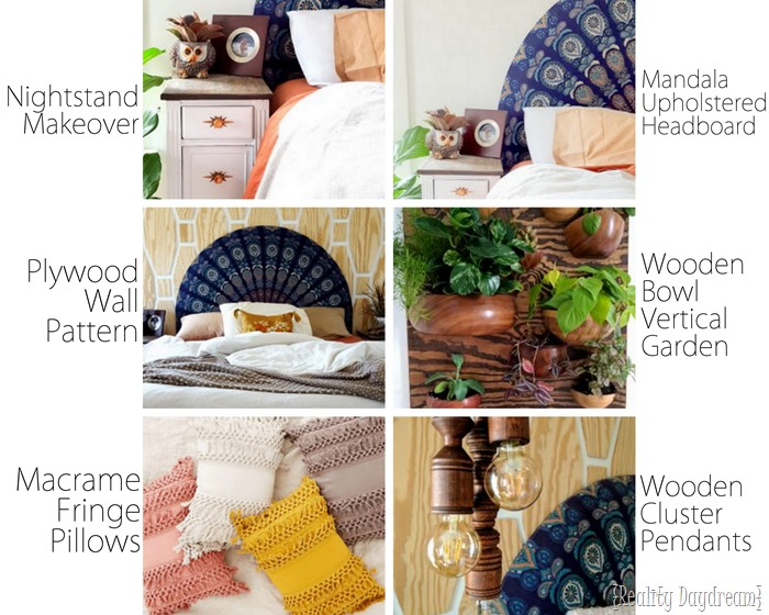 Master Bedroom Boho Makeover by Reality Daydream