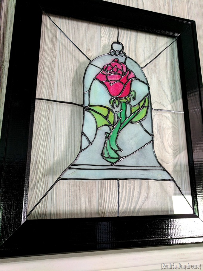 Faux Stained Glass Beauty The Beast Rose Tutorial Reality Day Dream