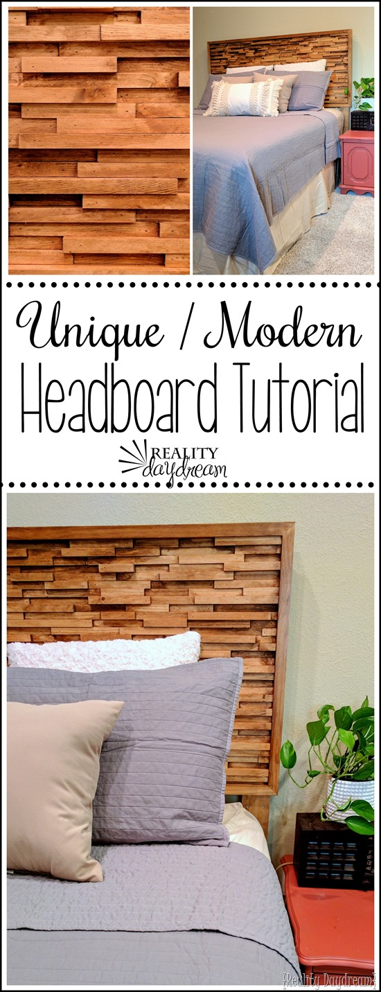 Step-by-step tutorial (and video) for this textured modern headboard... so unique! {Reality Daydream}
