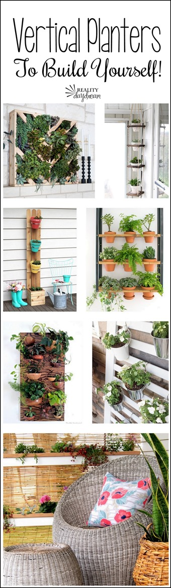 Tons of inspiring DIY Vertical Planters (or Living Walls) for you to build yourself! {Reality Daydream}