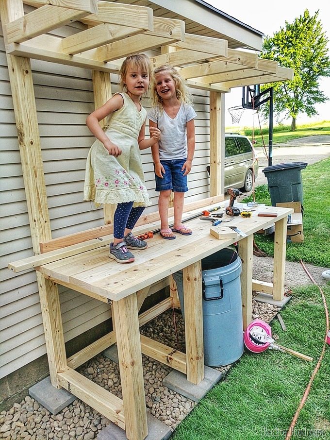 family project potting bench with garbage can enclosure reality daydream