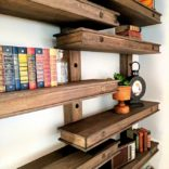 Oversized Pegboard Shelving System