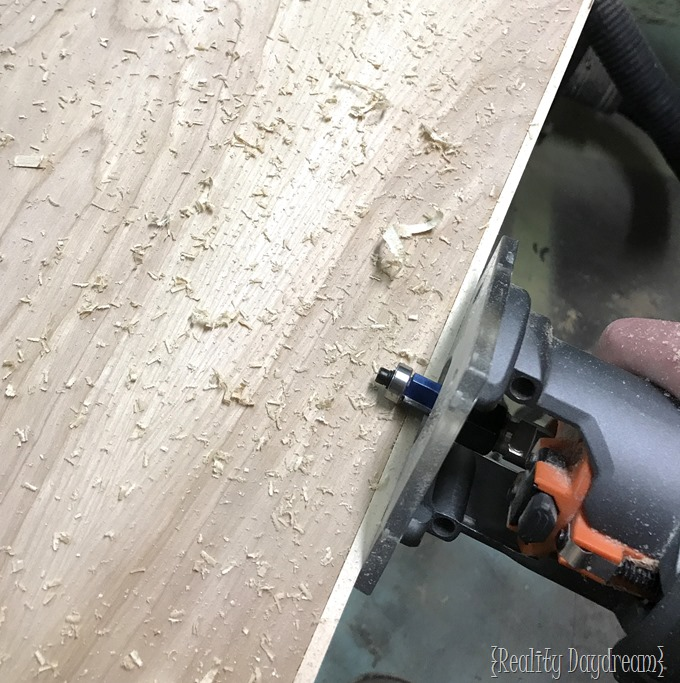 Using a flush trim router bit {Reality Daydream}