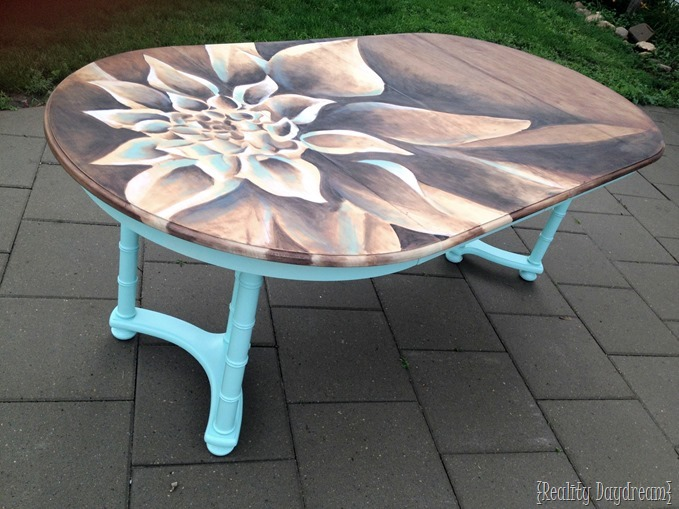 Dahlia Dining Table using wood stain {Reality Daydream}