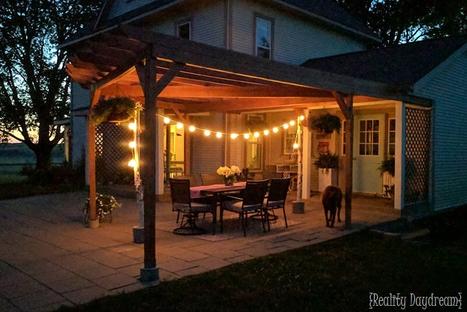 Dreamy outdoor entertaining patio makeover by Reality Daydream