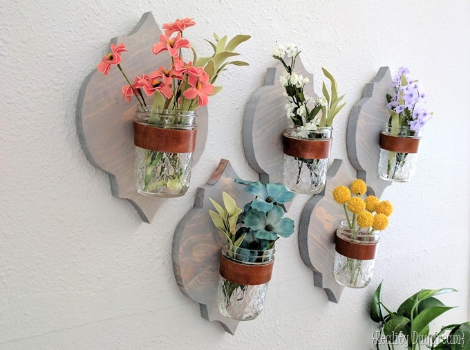 Moroccan pattern shaped wooden wall sconce vases, planters, or organization {Reality Daydream}