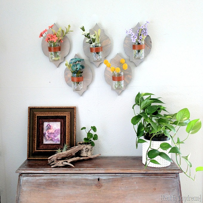 Moroccan-shaped Wooden Sconce Vases {Reality Daydream}
