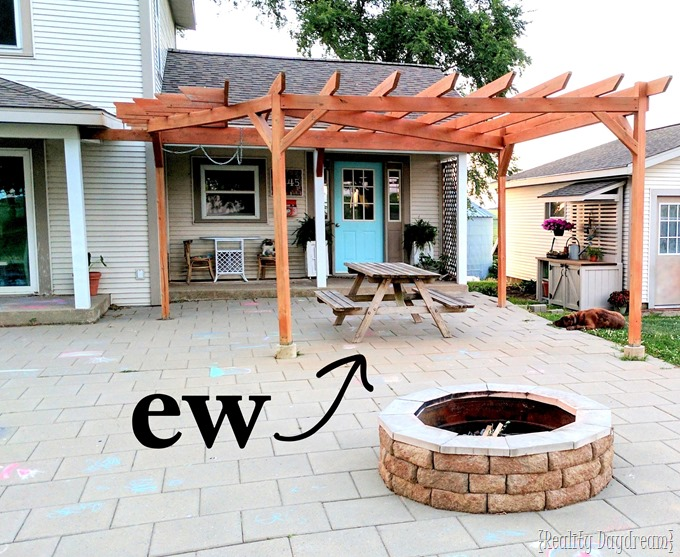 Patio makeover by Reality Daydream