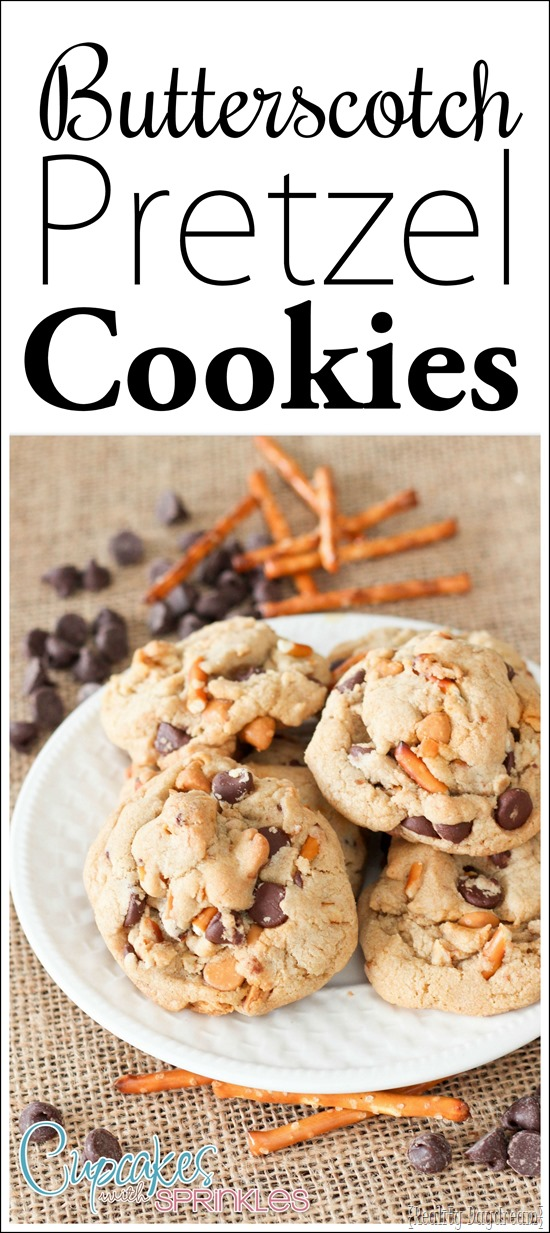 Recipe for Butterscotch Pretzel Cookies - with a hint of caramel!!